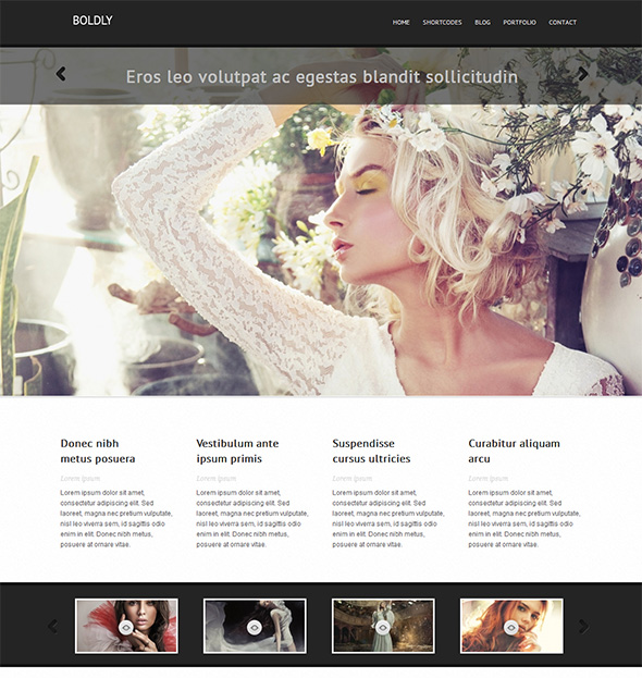Boldly WordPress Theme for Wedding Photographers