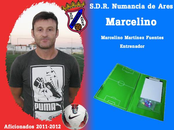 A.D.R. Numanciad de Ares. Marcelino. Entrenador