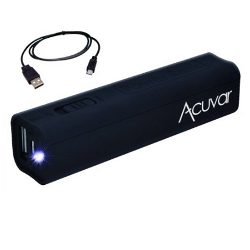 Acuvar Power Bank- Portable Backup Battery Charger - 2600mAh