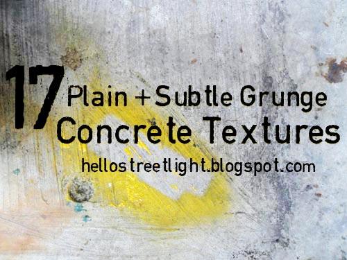 Free Plain and Subtle Grunge Concrete Textures