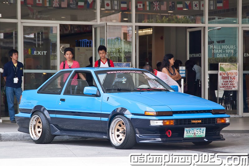 Blue Panda Toyota AE86 Custom Pinoy Rides Car Photography Manila Philippines