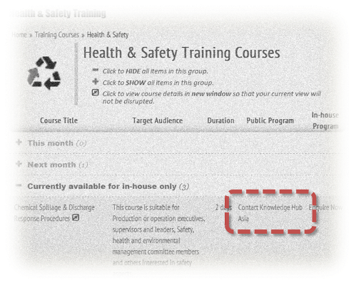 Accessing training provider's profile through category specific program listing page