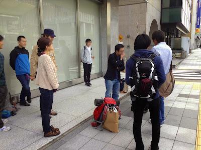 東京駅の近くに集合