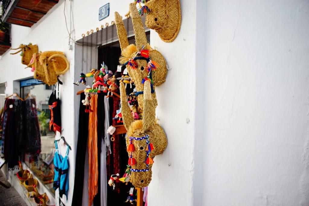 cabeza de burro, artesanía de rafia en Mijas