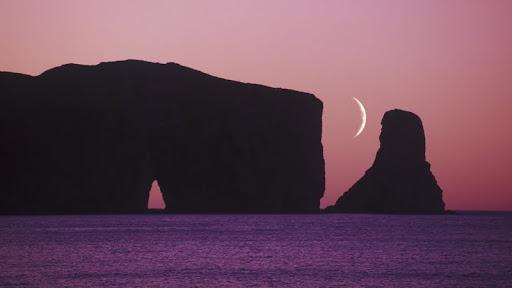 Perce Rock at Dusk, Gaspe Peninsula, Quebec.jpg