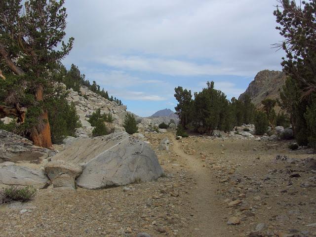 line of trail below Green Lake