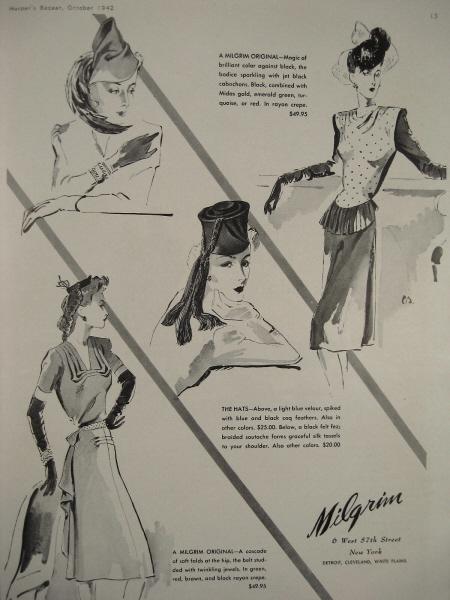 1947 Nettie Rosenstein women/'s Forstmann wool suit Carl Erickson art ad
