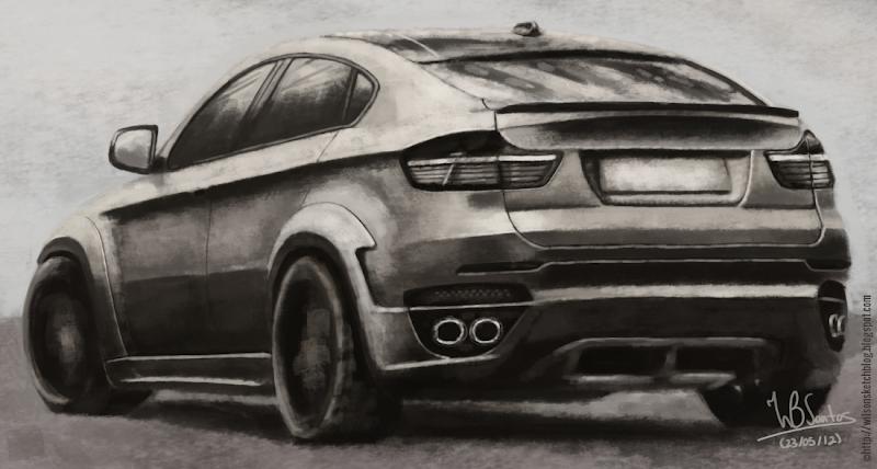 BMW X6 M digital paint, using Krita.