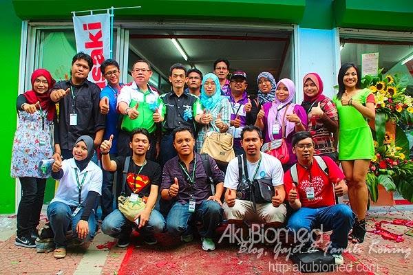 Gambar blogger di pembukaan Kawasaki MX World