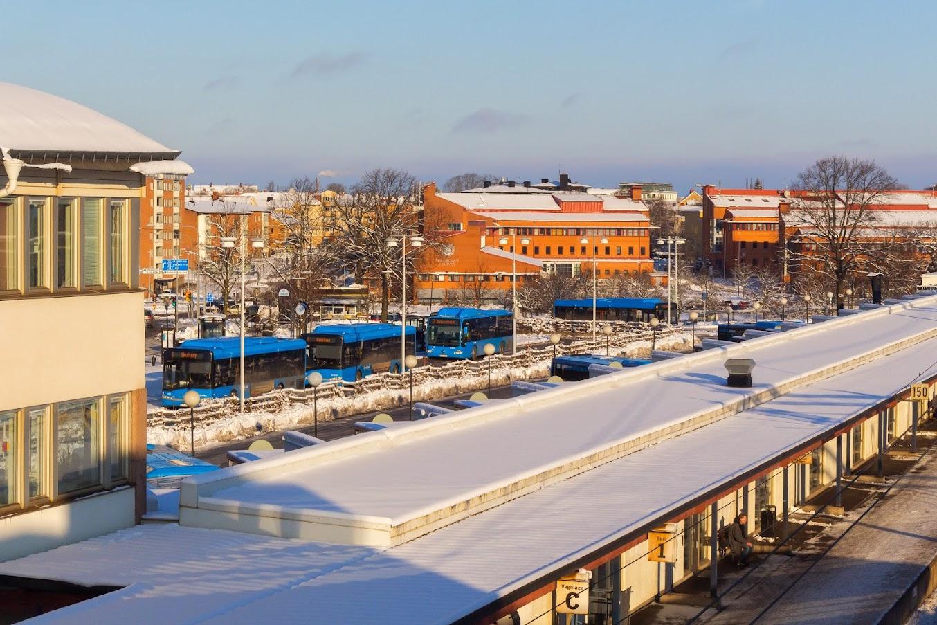 Bussterminalen som skall byggas ut i nästa steg