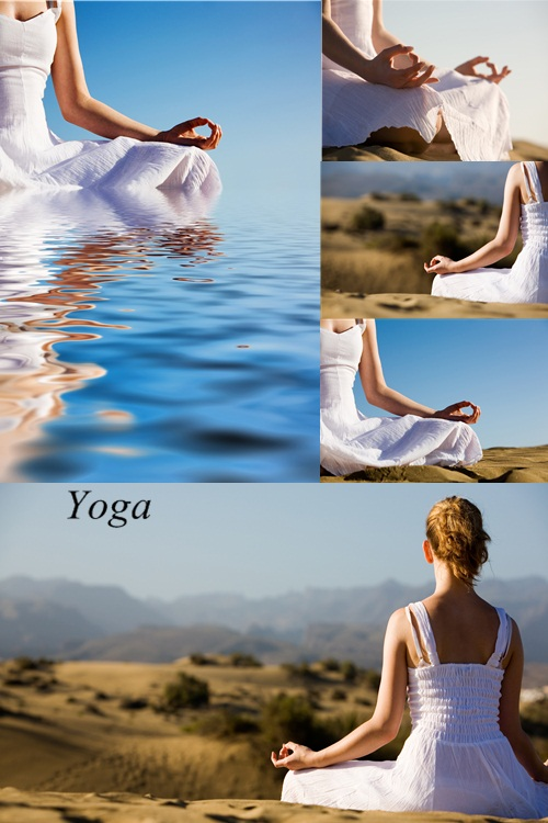 Stock Photo: Yoga and meditation