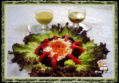 Salada crua com maionese de tangerina carioquinha 1