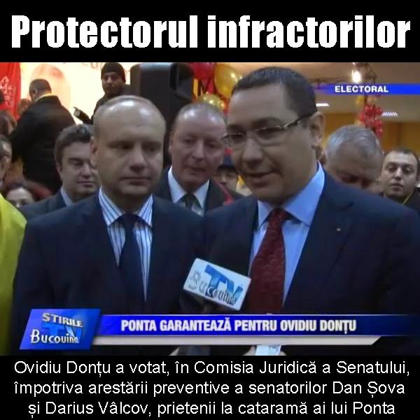 Ovidiu Donțu, protectorul infractorilor