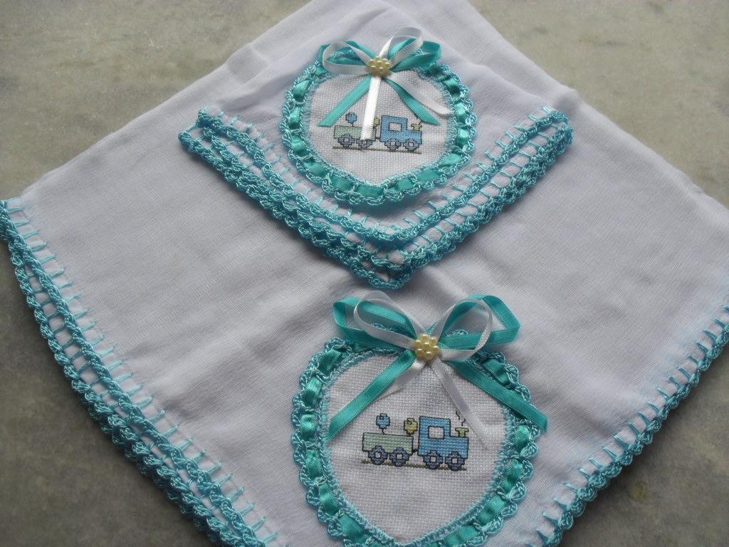 Suficiente Neco Franco Artesanatos: fraldas bordadas - ponto cruz e sianinha YW06