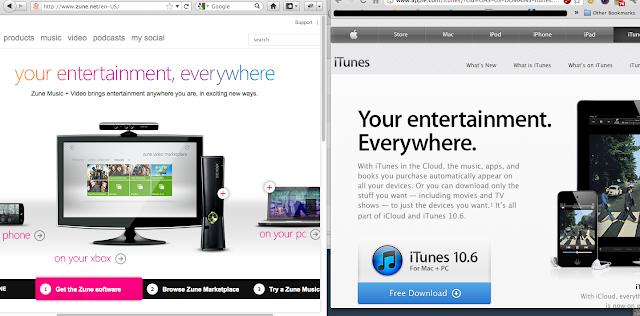 iTunes Zune Tagline