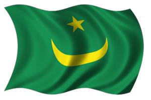 Mauritânia - bandeira para colorir