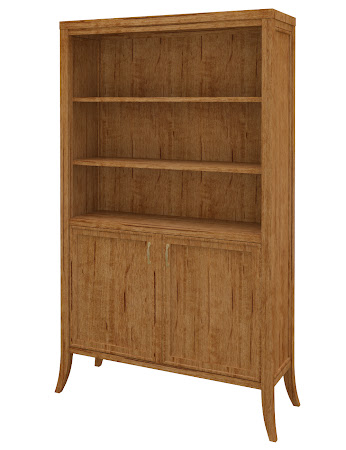 Strafford Wooden Door Bookshelf in Como Maple