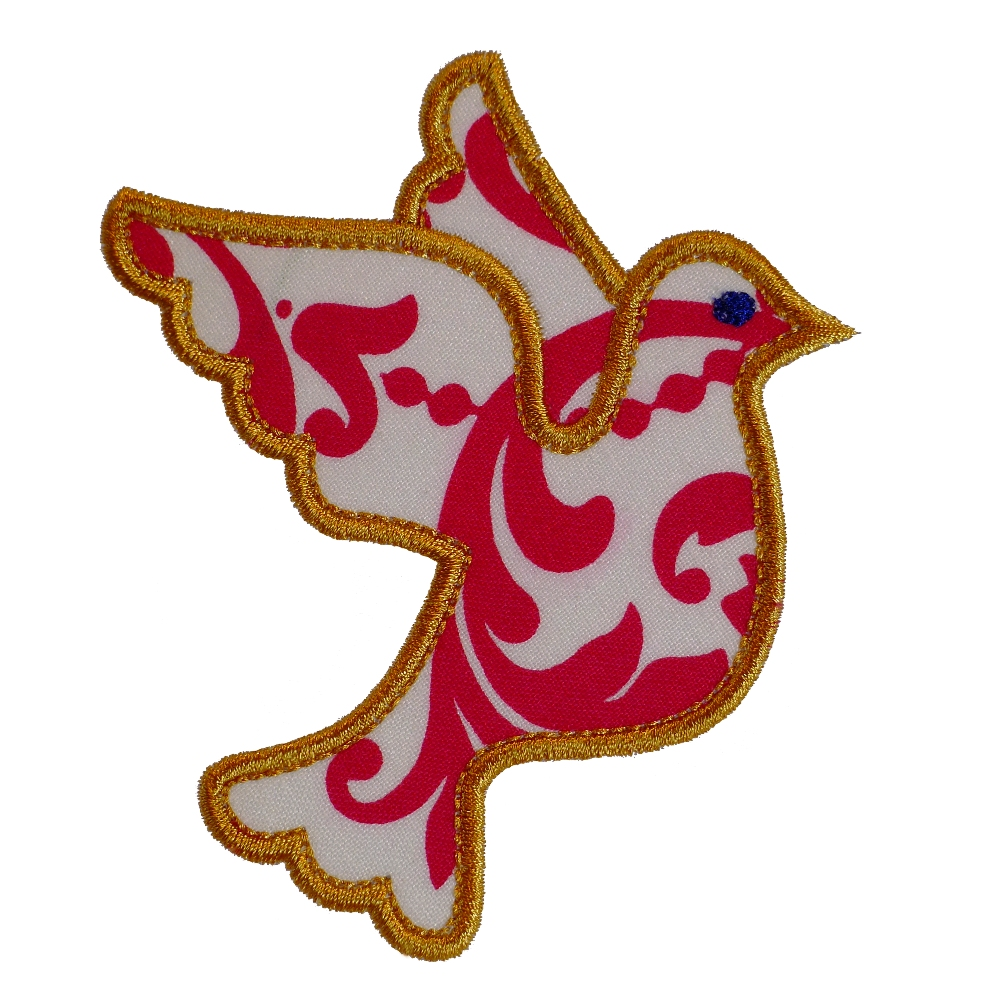 Big dreams embroidery dove of peace machine embroidery for Appliques design