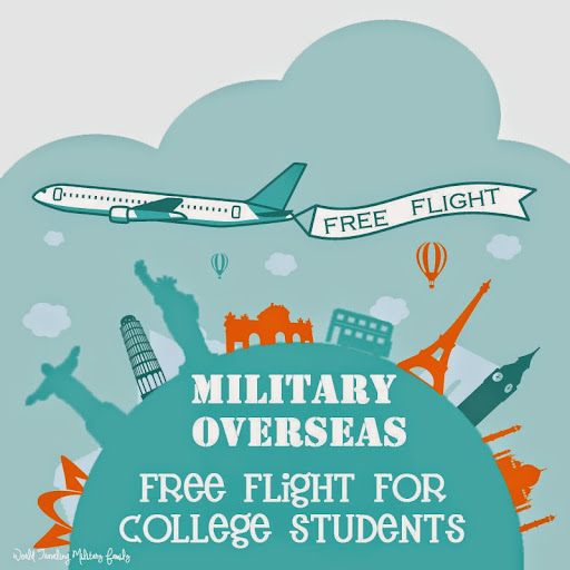 Military Overseas - Free Flight for College Students