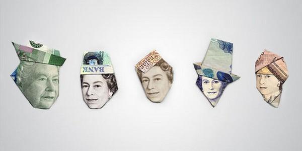 Портреты из денег