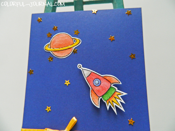 pretty pink posh blog 10 minute craft dash challenge 21 stars boy card space rocketship