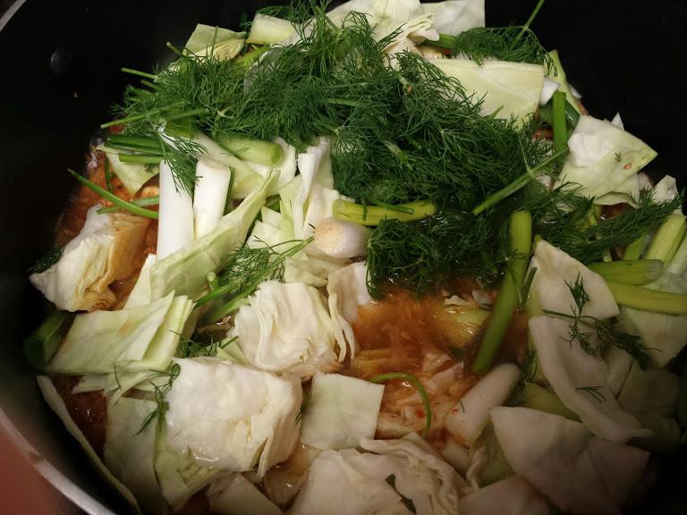 แกงอ่อมไก่ผักรวม
