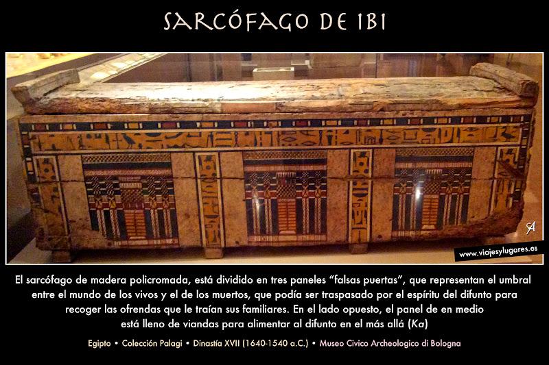 Sarcófago-caja de Ibi. Cultura egípcia