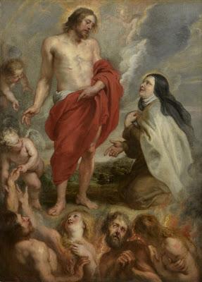 Santa Teresa intercediendo por Bernardino de Mendoza en el Purgatorio. Royal Museum of Fine Arts de Antwerp