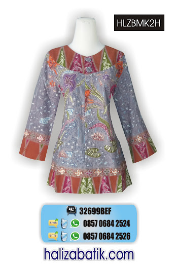 HLZBMK2H Batik Seragam, Baju Blus, Model Blus Batik, HLZBMK2H