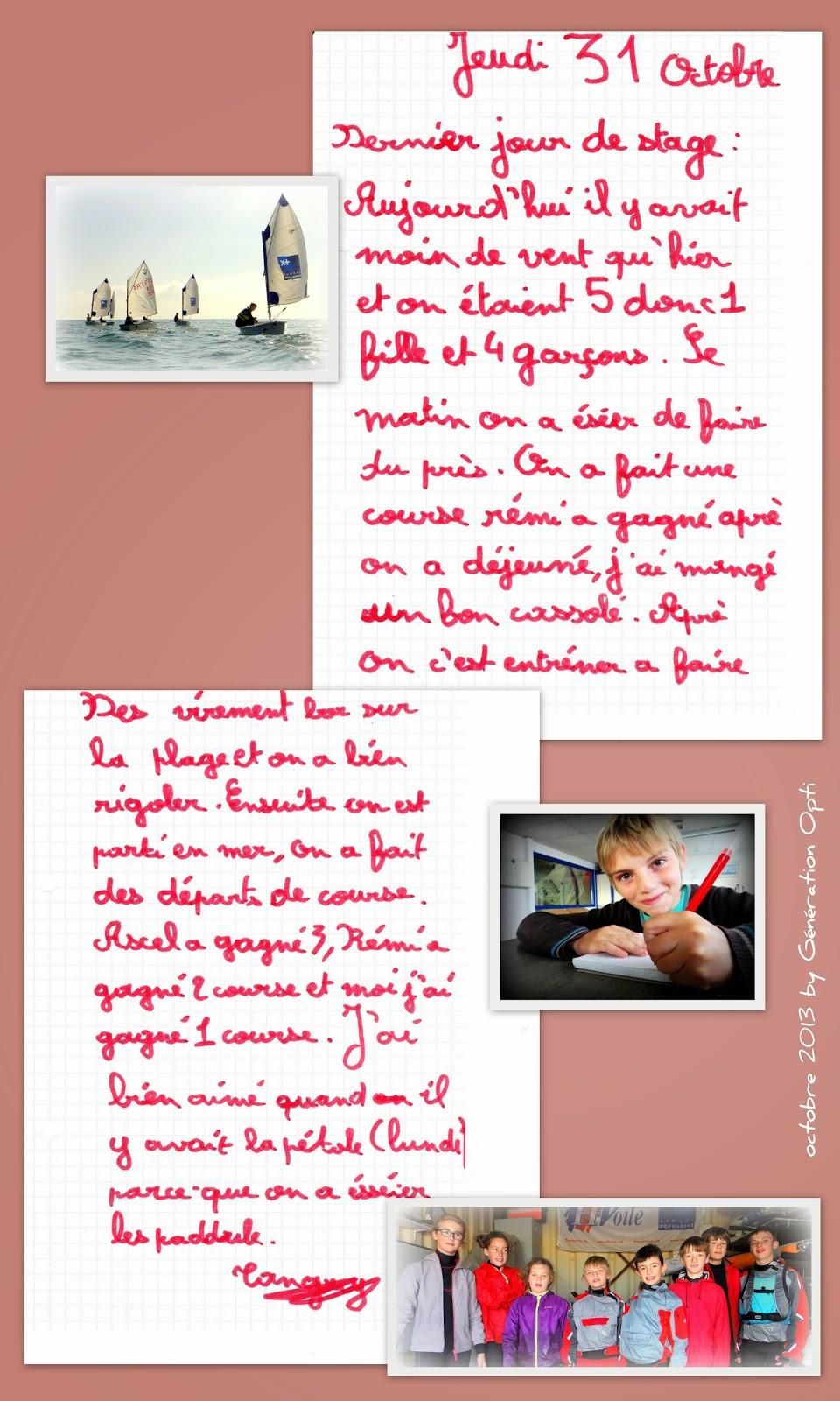 Voile stage sportif Optimist PO 66 Pyrénées_Orientales Toussaint_2013