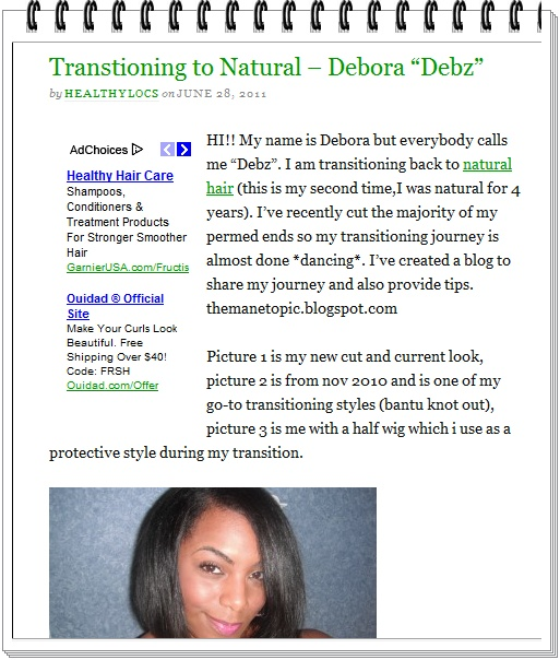 "I've Been Featured On ""Healthy Locs Blog""!"