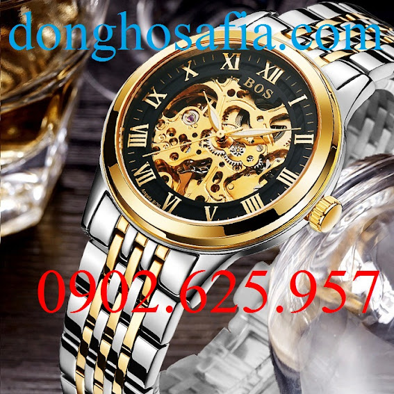 Đồng hồ nam cơ Bos 9013 BS001