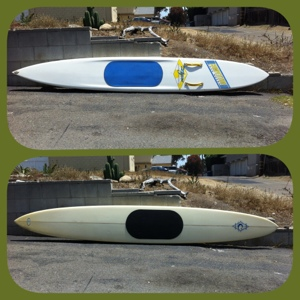 12ft is a competion board and the 12'6 is a great trainer or sup for someone in the 150lbs or less