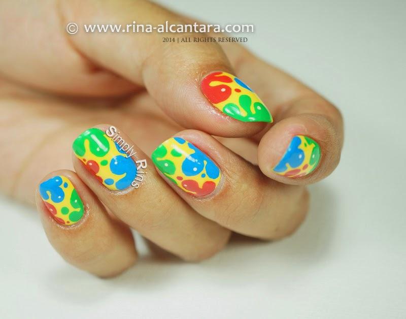 Splash of Colors Nail Art by Rina Alcantara