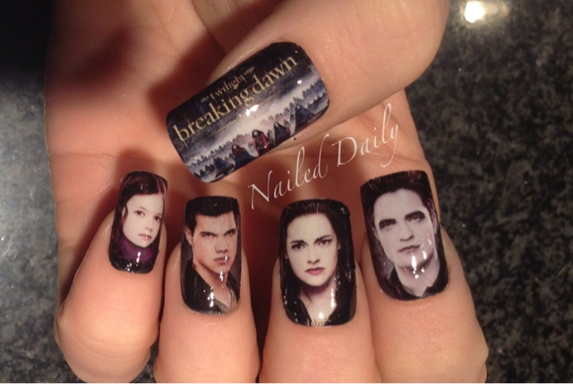 Nailed daily twilight breaking dawn part 2 the nail straight the thumb had to be redone a couple times but with practice they become easier and easier this set is by far my most successful prinsesfo Gallery