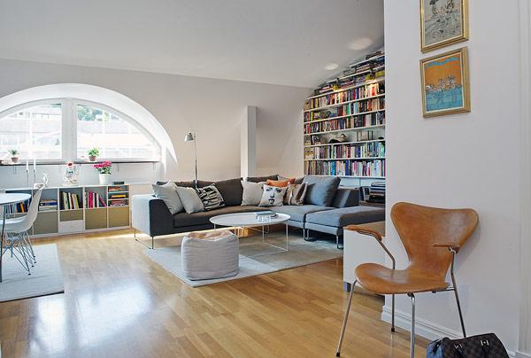 Чаровно таванско помещение по шведски