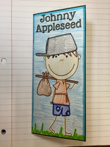 Live Laugh Teach First Grade Johnny Appleseed Interactive Notebook