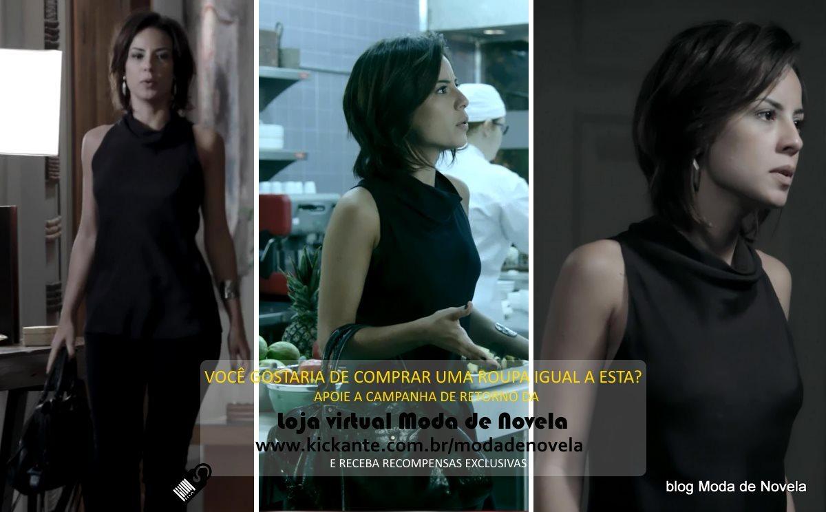 moda da novela Império, look da Maria Clara dia 21 de janeiro de 2015