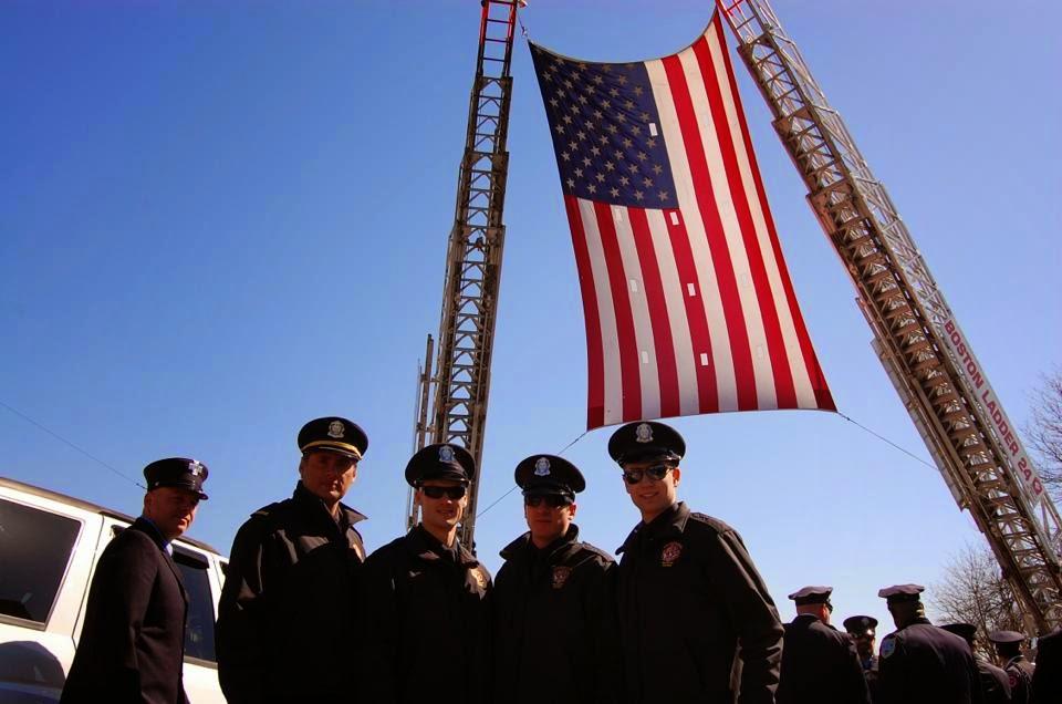 Pompier Sherbrooke présent à Boston