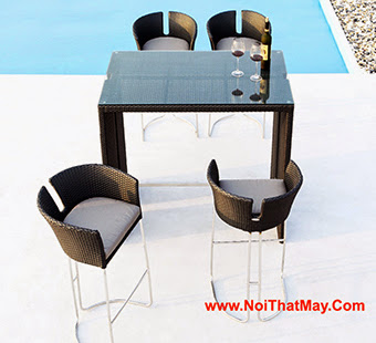 Outdoor Wicker Bar Set Minh Thy 834