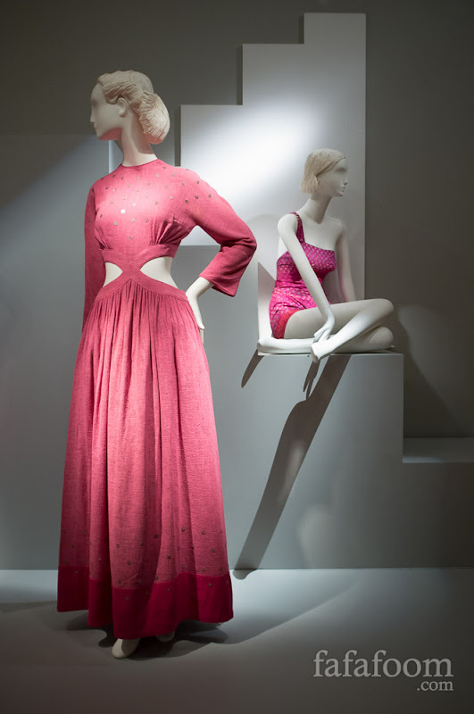 Left: Bonnie Cashin, Evening dress, 1945.