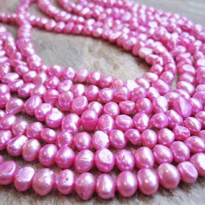 Bright Pink Potato Pearls