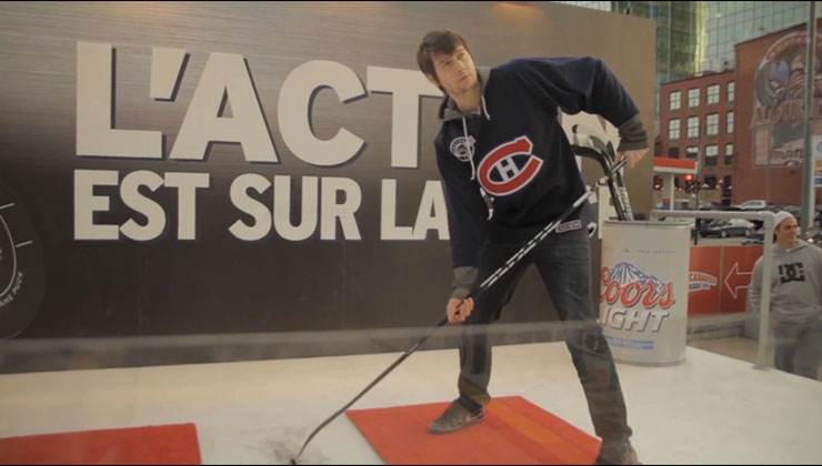 Coors Light Gets Habs Fans Into The Action