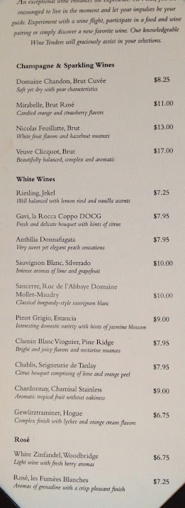 Celebrity cruises wine by the glass prices