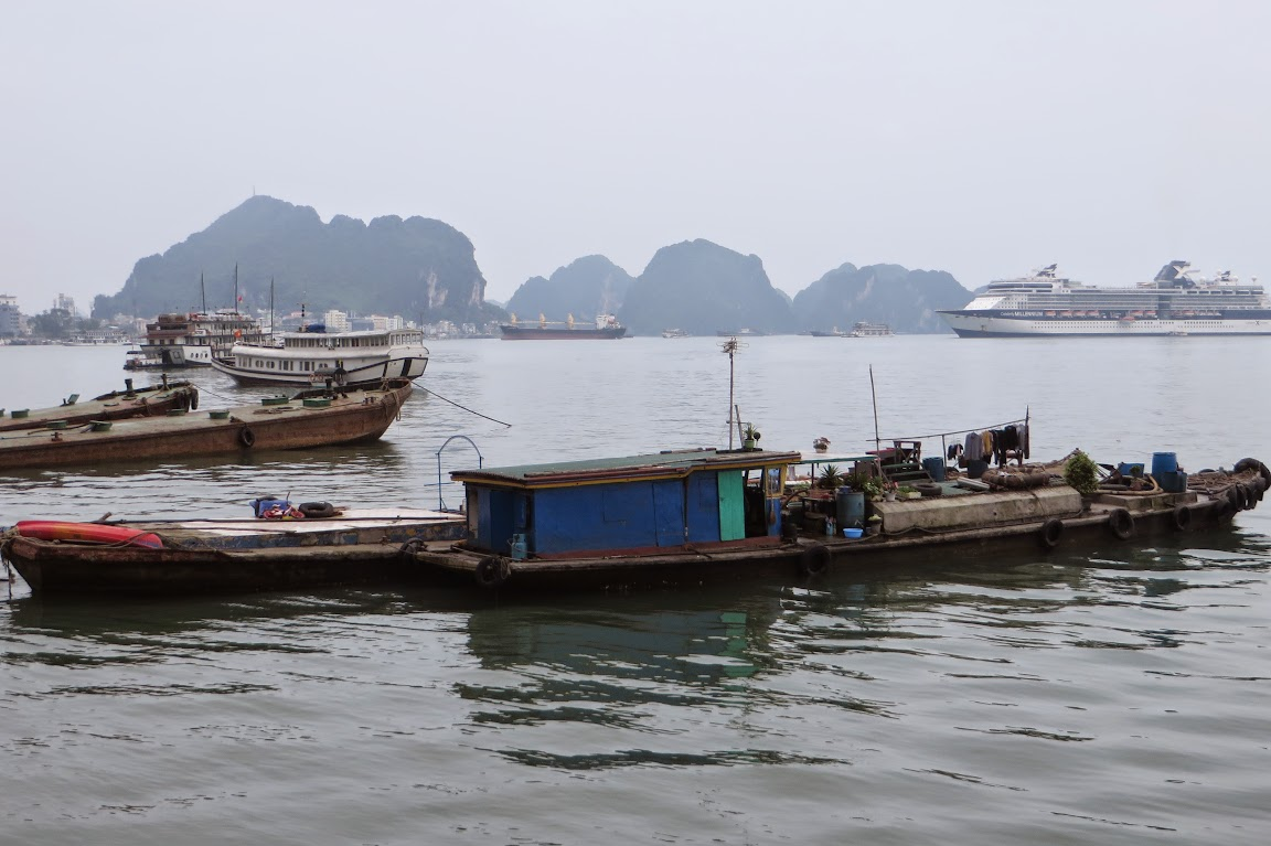 Junk cruising around Ha Long Bay