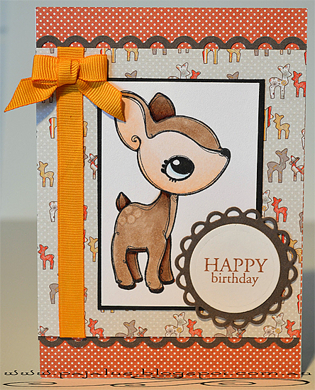 Happy Birthday Deer Card by Paula Laird and used with permission.