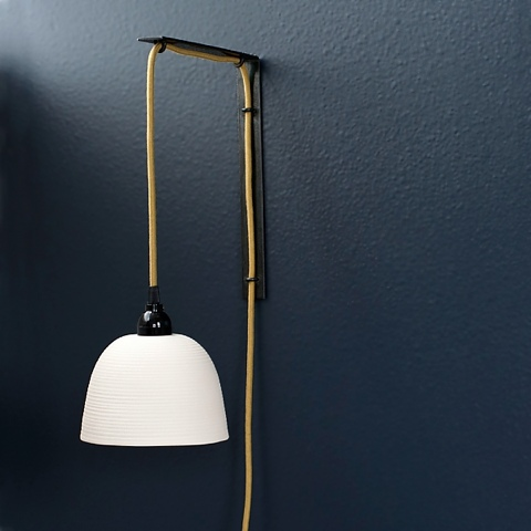 {Design} Ribbed pendant sconce by Pigeon Toe Ceramics