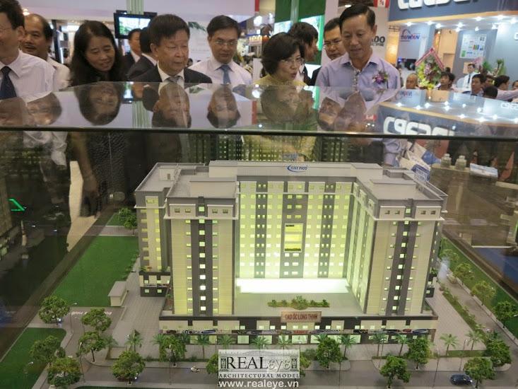 Mô hình kiến trúc REALEYE - Cao ốc Long Thịnh cuối 2015 sẽ hoàn thành