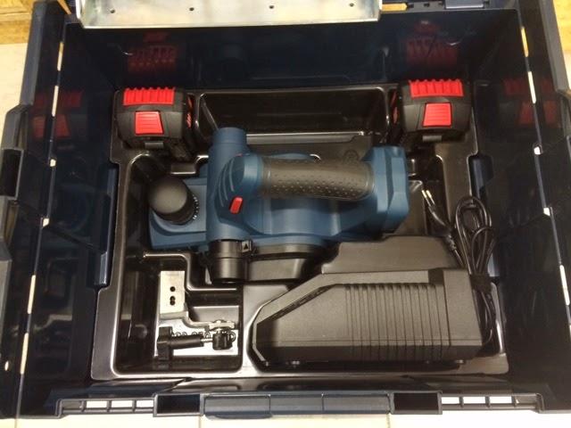 L-Boxx Bosch Akku-Hobel GHO 18 V-LI Ladegerät AL 1860CV Akku 3,0 Ah
