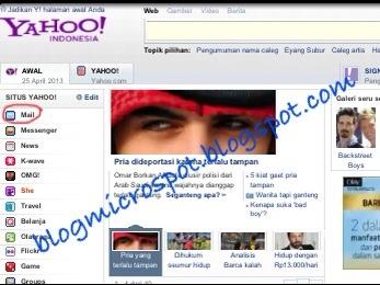 Halaman depan Yahoo!